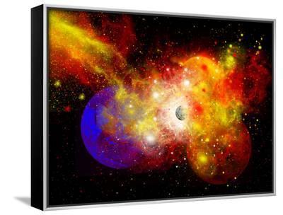 A Dying Star Turns Nova as it Blows Itself Apart-Stocktrek Images-Framed Canvas Print