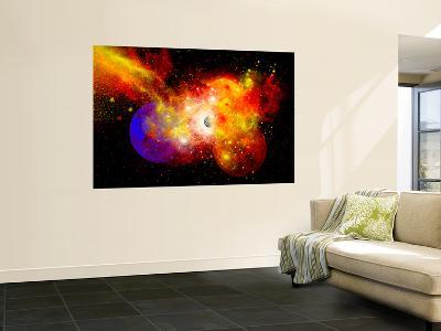 A Dying Star Turns Nova as it Blows Itself Apart-Stocktrek Images-Wall Mural