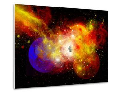 A Dying Star Turns Nova as it Blows Itself Apart-Stocktrek Images-Metal Print
