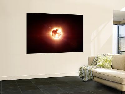 A Dying Star Which Will Soon Give New Beginning to a Black Hole-Stocktrek Images-Wall Mural