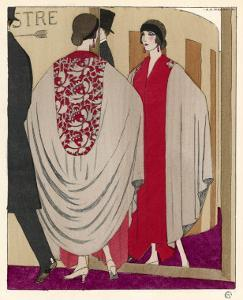 Voluminous Cape Like Evening Coat by Paul Poiret by A.e. Marty