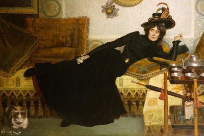 A Elegant Lady-Hippolyte-casimir Gourse-Giclee Print