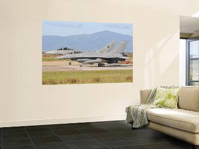 A Eurofighter 2000 Typhoon and a F-16Adf, Both from the Italian Air Force-Stocktrek Images-Wall Mural