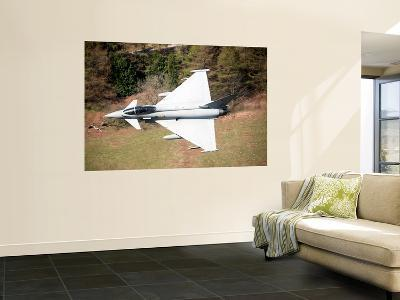 A Eurofighter Typhoon F2 Aircraft of the Royal Air Force Low Flying over North Wales-Stocktrek Images-Wall Mural