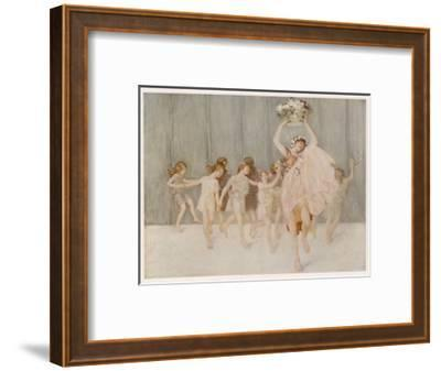 Isadora Duncan American Dancer Seen Here with Some of Her Pupils