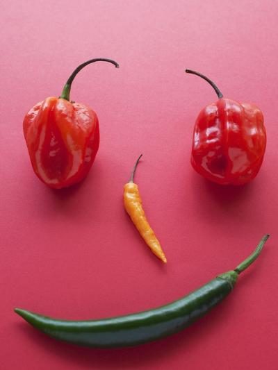A Face Made of Chilli Peppers-Malgorzata Stepien-Photographic Print