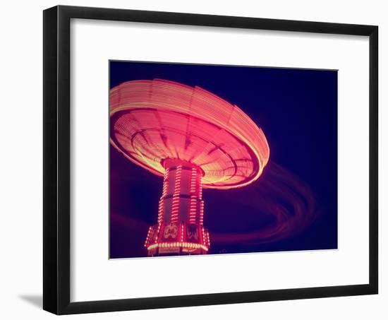 A Fair Ride Shot with a Long Exposure at Night-graphicphoto-Framed Photographic Print