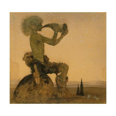 A Fairy Shepherd, 1910-John Bauer-Giclee Print