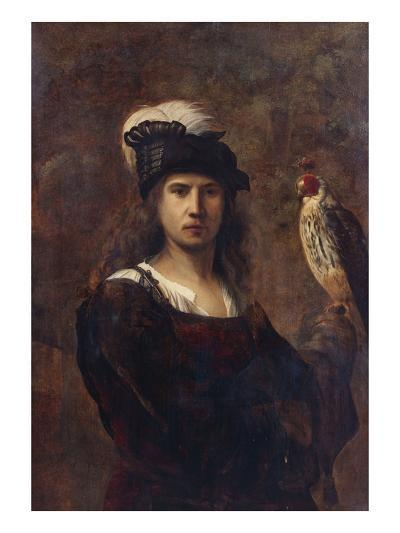 A Falconer, Standing Half Length, in a Feathered Hat--Giclee Print