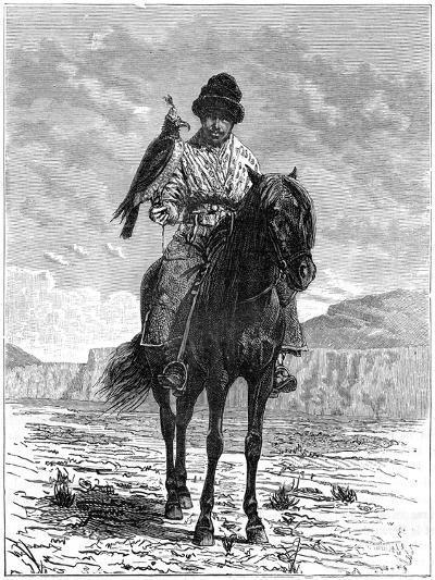 A Falconer, Turkestan, 19th Century- Delort-Giclee Print