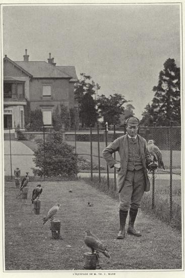 A Falconer with His Hawk--Photographic Print