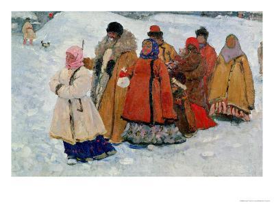 A Family, 1909-Sergej Vasilevic Ivanov-Giclee Print