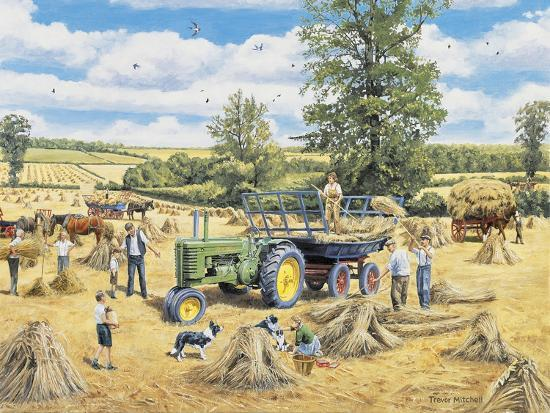 A Family Harvest-Trevor Mitchell-Giclee Print