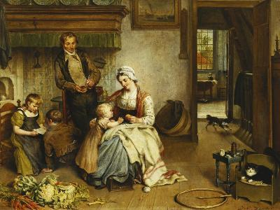 A Family in an Interior-Johannes Petrus Horstok-Giclee Print