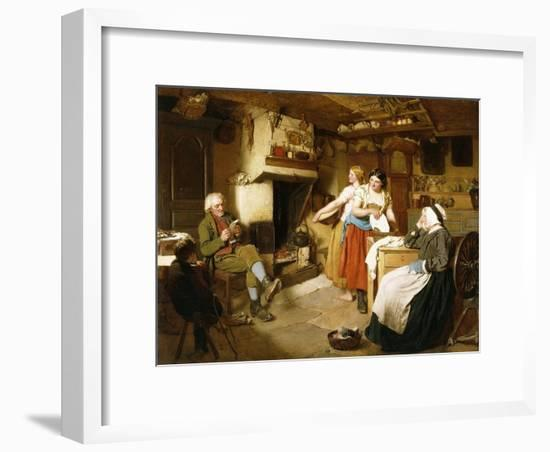 A Family in an Interior-John Faed-Framed Giclee Print