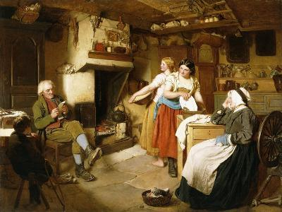 A Family in an Interior-John Faed-Giclee Print