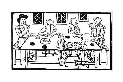 A Family Meal, Early 17th Century--Giclee Print