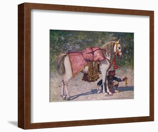 'A Famous Led Horse in the Retinue of the Rao of Cutch', 1903-Mortimer L Menpes-Framed Giclee Print