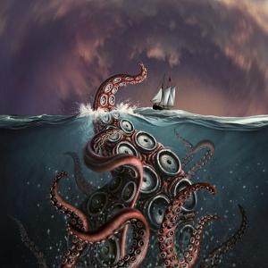 A Fantastical Depiction of the Legendary Kraken