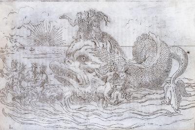A Fantastical Fish Chariot, 1579--Giclee Print