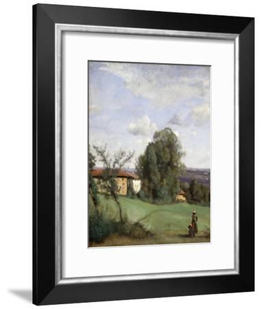 A Farm in Dardagny. Ca. 1855-57-Jean-Baptiste-Camille Corot-Framed Giclee Print
