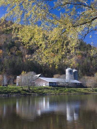A farm on the Connecticut River in Maidstone, Vermont, USA-Jerry & Marcy Monkman-Photographic Print