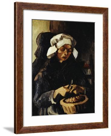 A Farmer from Neunen, Peeling Potatoes, c.1885-Vincent van Gogh-Framed Giclee Print