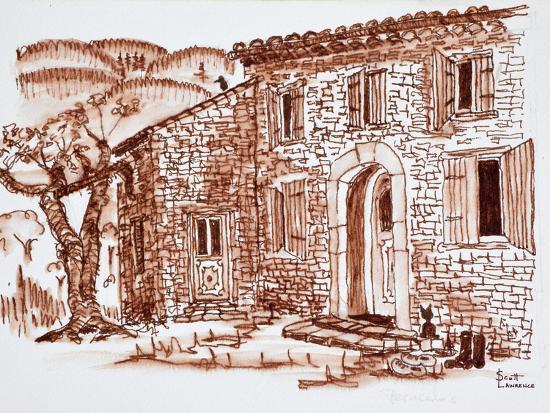 A farmhouse, Grasse, Provence, France.-Richard Lawrence-Photographic Print