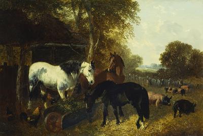 A Farmyard Scene-John Frederick Herring Jnr-Giclee Print