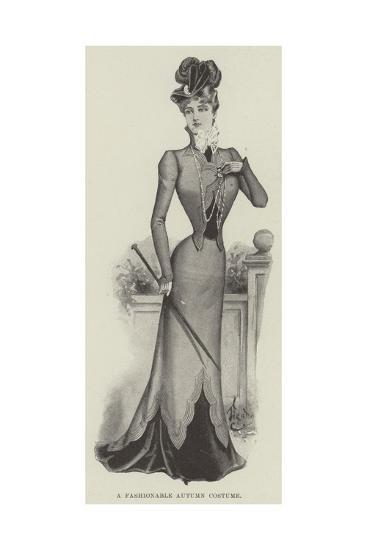 A Fashionable Autumn Costume--Giclee Print