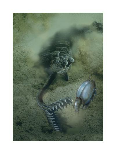A Fearsome Opabinia Found in the Middle Cambrian Burgess Shale Formation-Stocktrek Images-Art Print