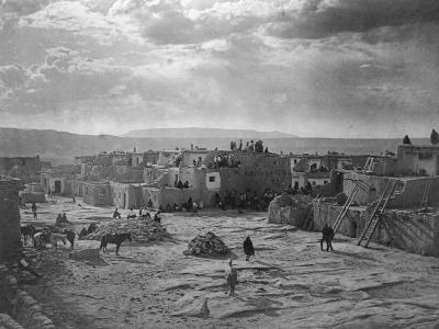 A Feast Day at Acoma-Edward S^ Curtis-Photographic Print