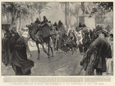 A Fellahin Festival in Cairo, the Procession to the Cemeteries to Wail the Dead--Giclee Print