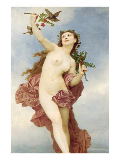 A Female as Day-William Adolphe Bouguereau-Art Print