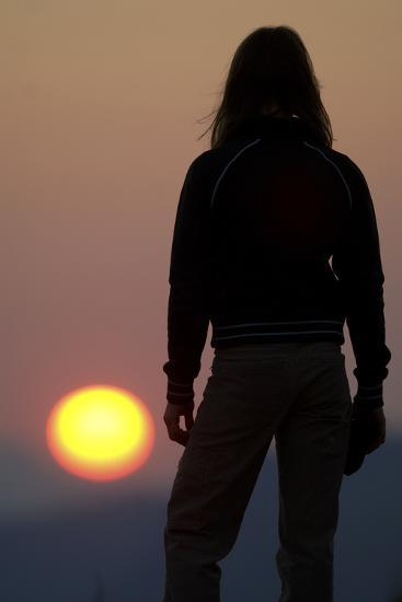 A Female Climber Stands at Sunset in the Cederberg Wilderness Area, South Africa-Keith Ladzinski-Photographic Print