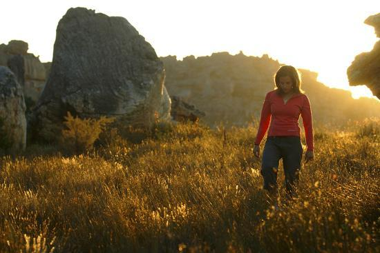A Female Climber Walking at Sunset in the Cederberg Wilderness Area, South Africa-Keith Ladzinski-Photographic Print