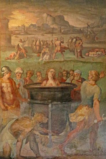 A Female Saint Is Boiled Alive--Giclee Print