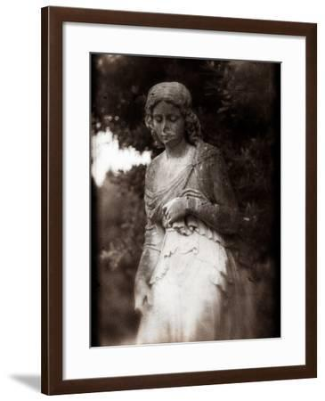 A Female Statue in Cemetery-Clive Nolan-Framed Photographic Print