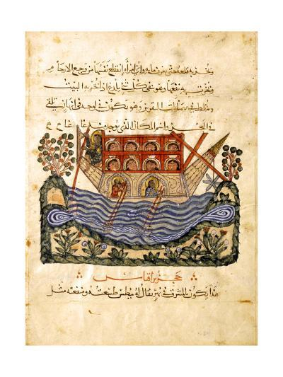 A Ferry (Folio from an Arabic Translation of the Materia Medica by Dioscoride), 1224- Abd as-Samad-Giclee Print