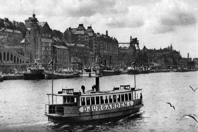 A Ferry on the Way to the Island of Djurgarden, Stockholm, Sweden, C1923--Giclee Print