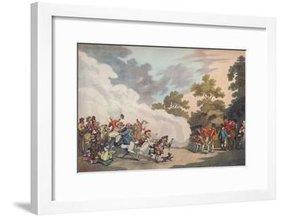 A Field Day in Hyde Park, 1789, (1914)-Thomas Malton II-Framed Giclee Print