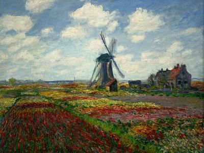 A Field of Tulips in Holland, 1886-Claude Monet-Giclee Print