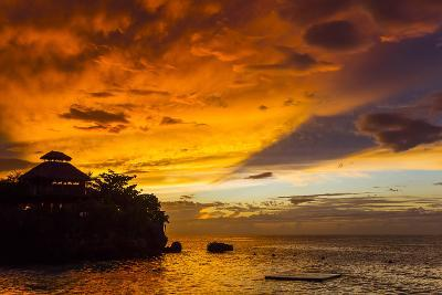 A Fiery Sky During a Dramatic Sunset in Ocho Rios, Jamaica-Mike Theiss-Photographic Print