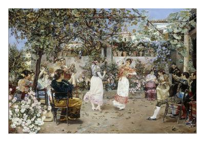 A Fiesta on a Sevillan Terrace, 1891-Jose Gallegos Y Arnosa-Giclee Print