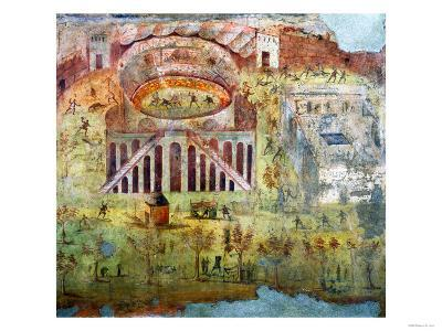 A Fight in the Amphitheatre, 59 Ad, Battle Between Citizens of Pompeii and Neceria--Giclee Print