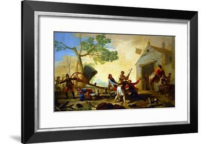 A Fight Outside the New Tavern Cartoon for a Tapestry; 1777-Suzanne Valadon-Framed Giclee Print