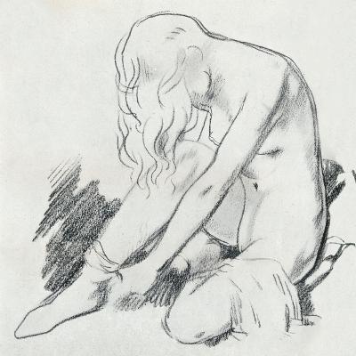 A Figure Study, C20th Century (1932)-William Newenham Montague Orpen-Giclee Print