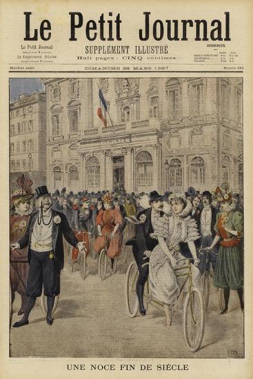 A Fin De Siecle Wedding, France--Giclee Print
