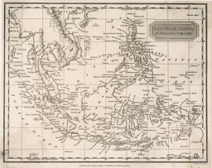 Map of the East India Islands Including the Philippines the Celebes Papua New Guinea Sumatra by A^ Findlay