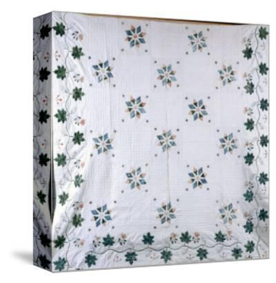 A Fine Stencilled Coverlet, 1835-1840